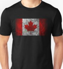 Canada Don't Tread on Me Flag by Basement Mastermind T-Shirt