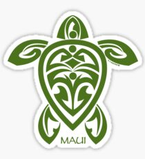 Green Tribal Turtle / Maui Sticker