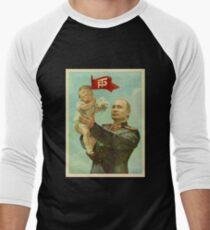 BABY TRUMP WITH PUTIN Men's Baseball ¾ T-Shirt