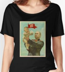 BABY TRUMP WITH PUTIN Women's Relaxed Fit T-Shirt