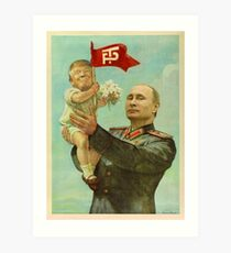 BABY TRUMP WITH PUTIN Art Print