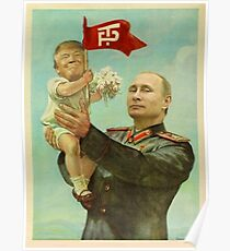 BABY TRUMP WITH PUTIN Poster