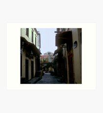 Alley in Rhodes Art Print