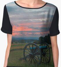 Gettysburg Cannon Sunset Women's Chiffon Top