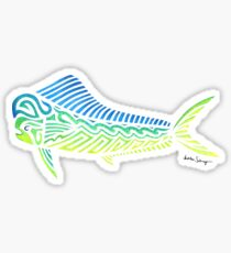 Tribal Mahi Mahi Sticker