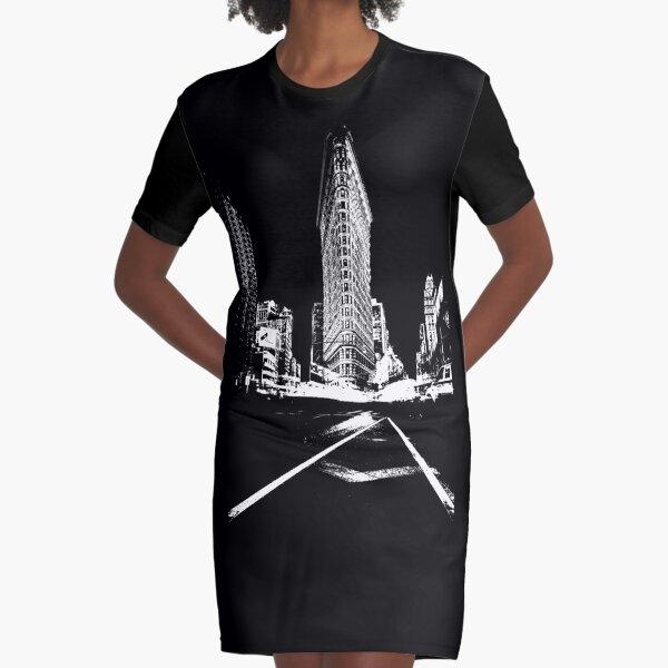 Flatiron Building NY Graphic T-Shirt Dress
