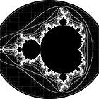 White Linear Mandelbrot by Rupert Russell