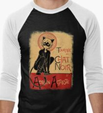 Tournee du Chat Noir Men's Baseball ¾ T-Shirt