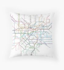 London Rail & Tube Throw Pillow