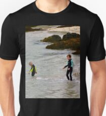Children wading,  Portsalon, Donegal, Ireland T-Shirt