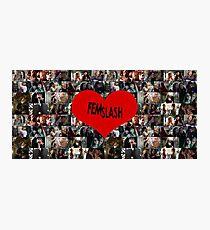 Femslash collage Photographic Print