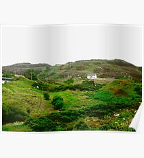 Lonely Cottage, Fanad Head, Donegal, Ireland Poster