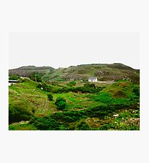 Lonely Cottage, Fanad Head, Donegal, Ireland Photographic Print