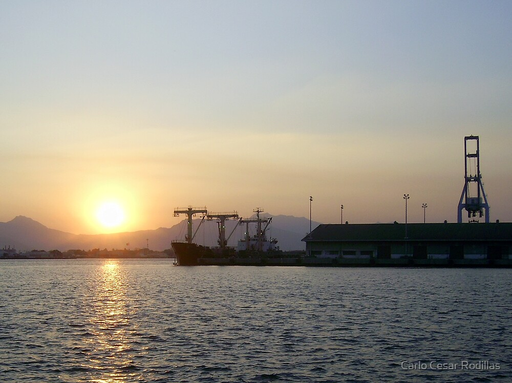 Sunset at Subic Bay Freeport, Philippines by Carlo Cesar Rodillas