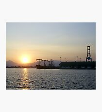 Sunset at Subic Bay Freeport, Philippines Photographic Print