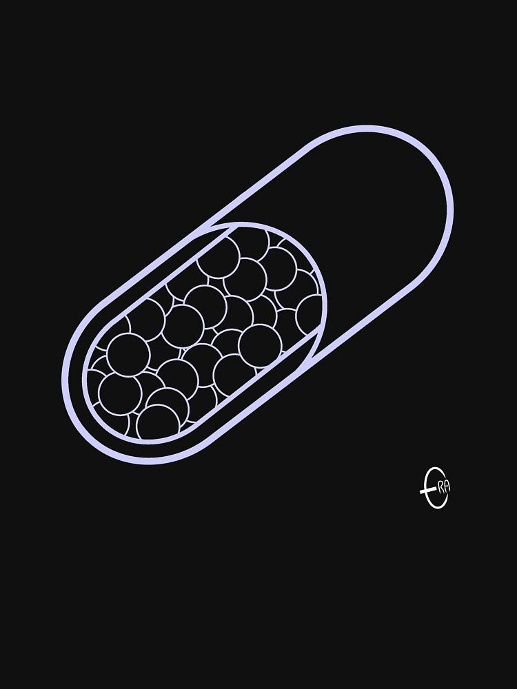 Pills 3 Black by BizarroArt