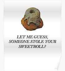 Skyrim - Sweetroll Poster