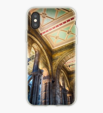 A ceiling at the Natural History Museum, London, England iPhone Case