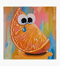 CRYING ORANGE with GOOGLY EYES Photographic Print