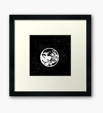 Earthbound logo in space Framed Print