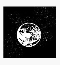 Earthbound logo in space Photographic Print