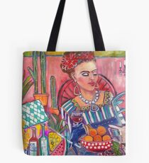 Lunch With Frida Kahlo Tote Bag