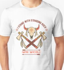 I STAND WITH STANDING ROCK - NODAPL WNI WICOLI Unisex T-Shirt