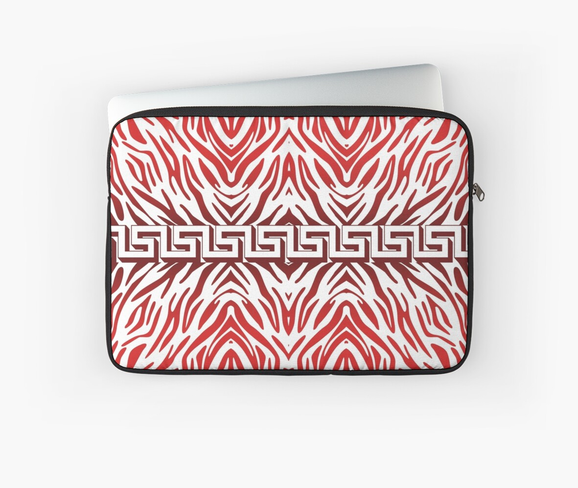 Red Zebra Print Pattern by Looly Elzayat
