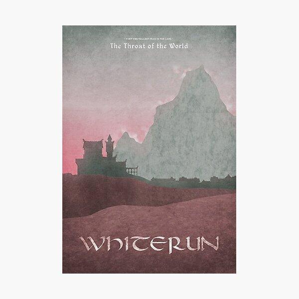 Skyrim - Whiterun Photographic Print