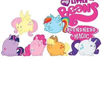 MLP Bean Ponies by LeeLeeMoreau