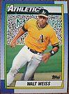 256 - Walt Weiss by Foob's Baseball Cards
