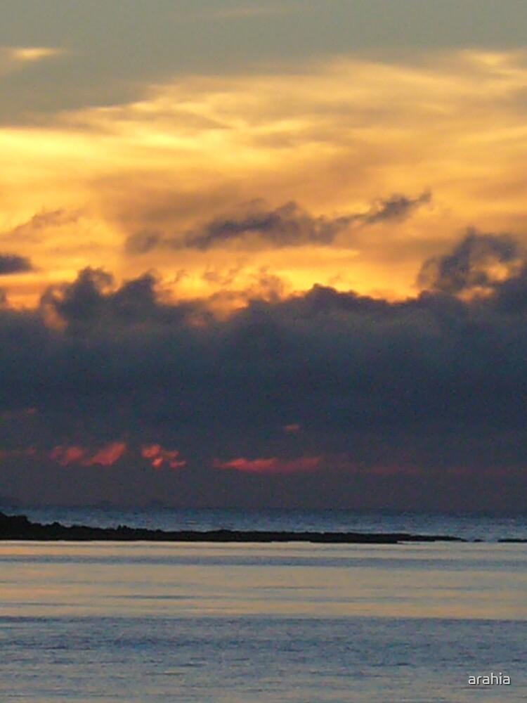 stormy sunset by arahia