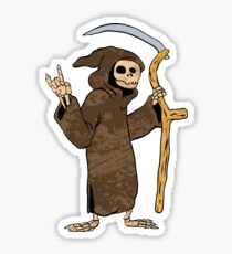 cartoon grim reaper. Sticker