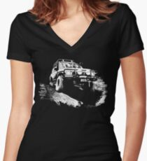 GQ on 35s Women's Fitted V-Neck T-Shirt
