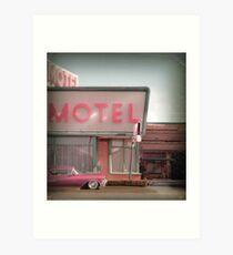 Cadillac Motel Art Print