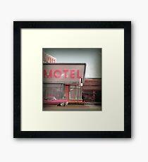 Cadillac Motel Framed Print