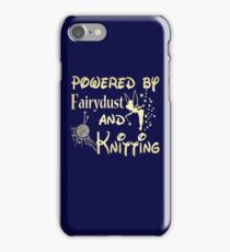 Powered by fairydust and knitting T-shirt iPhone Case/Skin