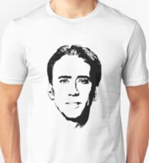 Nicolas Cage's Head - Black and White Unisex T-Shirt