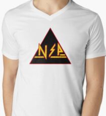Sexy Party Leppard (Def Leppard/Ninja Sex Party Crossover) Mens V-Neck T-Shirt