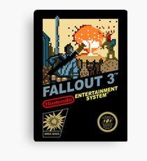 Fallout 3 nes remake Canvas Print