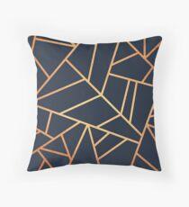lines dark blue Throw Pillow
