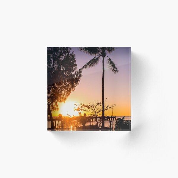 Sunrise stroll - Palm Cove Acrylic Block