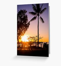 Sunrise stroll - Palm Cove Greeting Card
