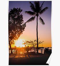 Sunrise stroll - Palm Cove Poster