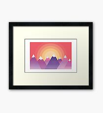 Graphic Mountains Framed Print