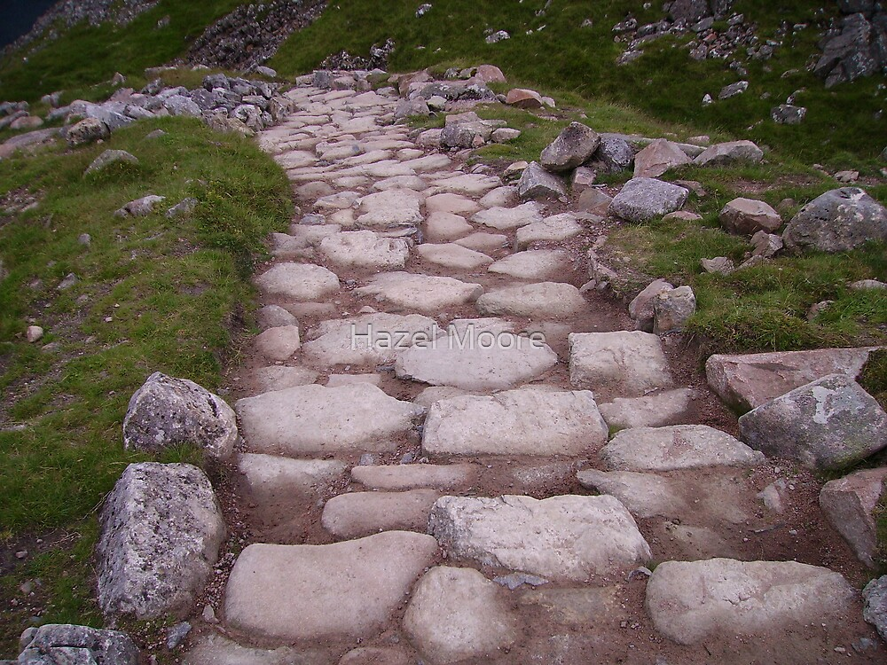The Path on Ben Nevis by Hazel Moore