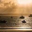 Sunrise on Training Day - Warrnambool Victoria Australia by Norman Repacholi