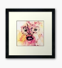 Flower eyes Crazy eyes  Framed Print