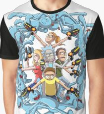 Rick and Morty: Happy Family Graphic T-Shirt