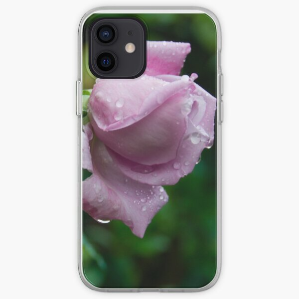 a wet lonely rose iPhone Soft Case